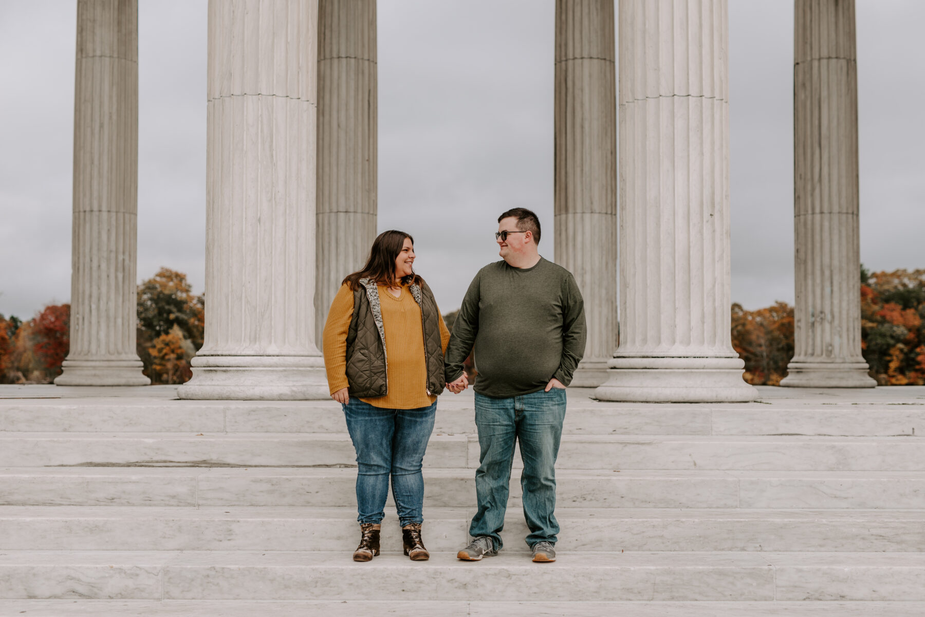 Roger Williams Park Providence Engagement Louann and Mike Blueflash Photography 1