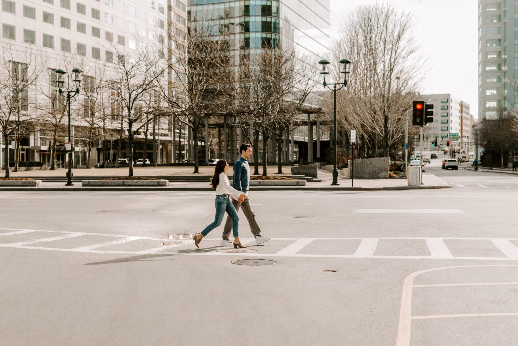 Boston Waterfront Engagement Rachel and Michael Blueflash Photography 14
