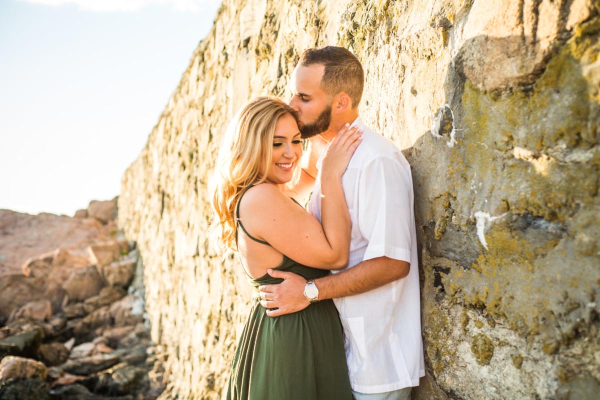 Christina and Justin   Sakonnet Point Engagement   Blueflash Photography