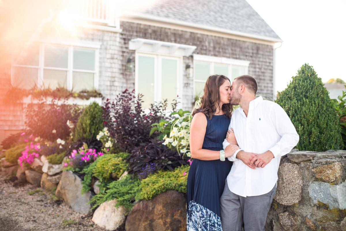 Kristin and Jeremy | Narragansett Beach Engagement | Blueflash Photography