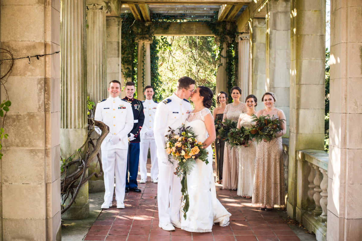 Eolia Mansion Wedding - Bridal Party in the Gardens