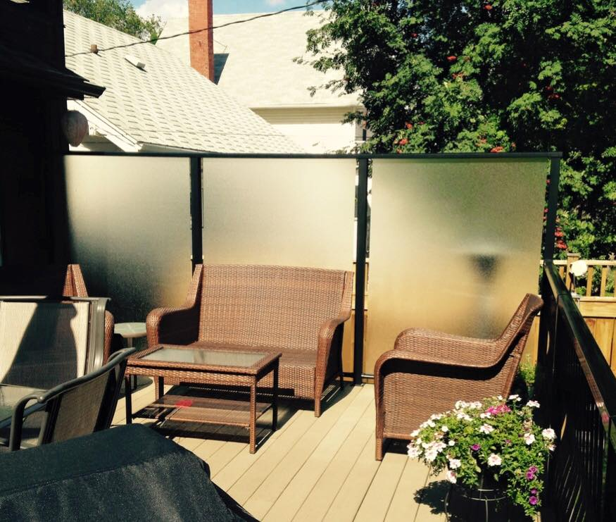 Privacy/Wind Sliding Deck Screens