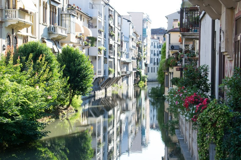 Padova Italy houses by the creek
