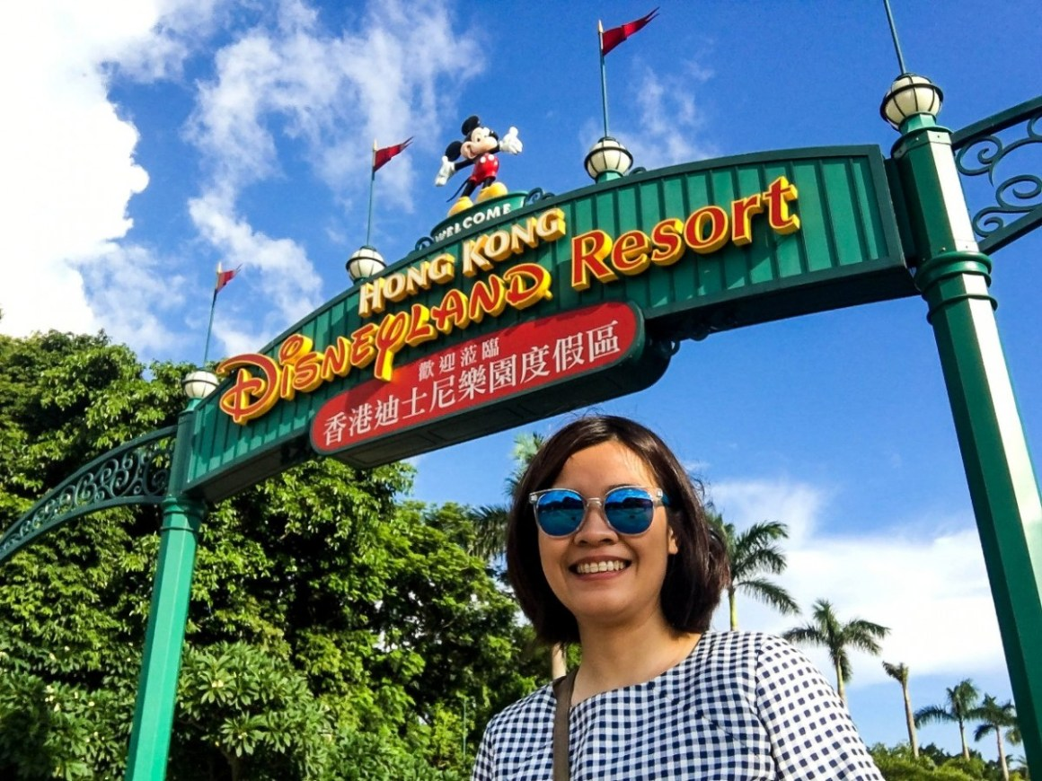 Hong Kong Disneyland welcome sign