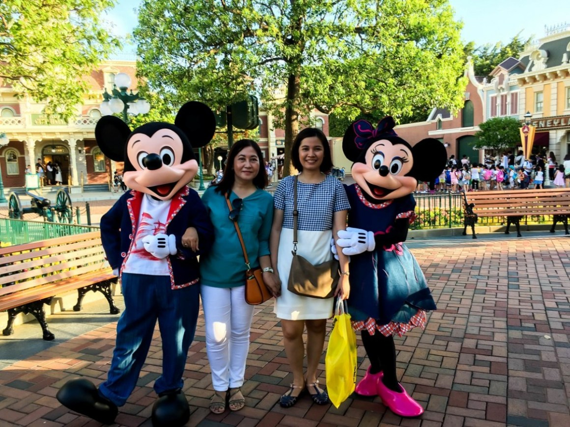 Me, Mom, Mickey and Minnie
