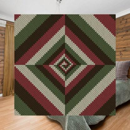 Vortex C2C Corner to Corner Crochet Pattern