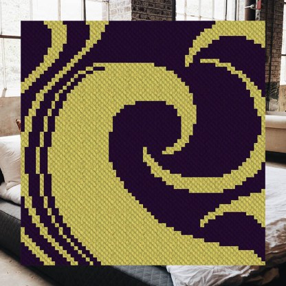 Into The Night C2C Corner to Corner Crochet Pattern