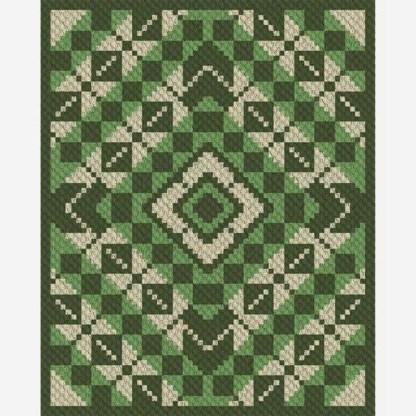 Patty Pans Argyle C2C Corner to Corner Crochet Pattern