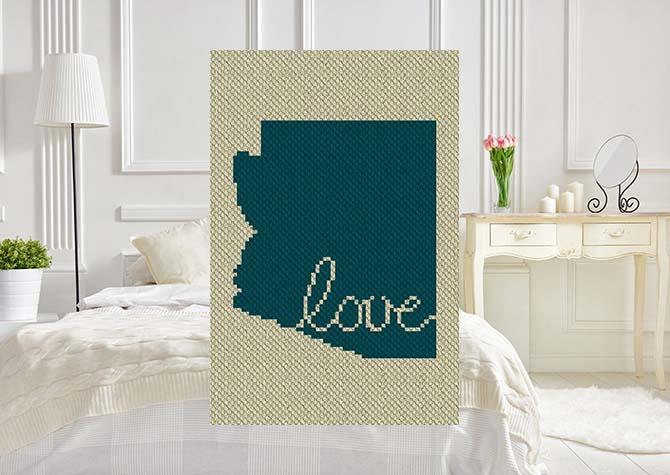 Arizona Love C2C Crochet Pattern