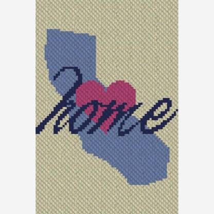 California Home C2C Corner to Corner Crochet Pattern