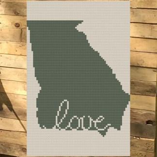 Georgia Love Cross Stitch Chart