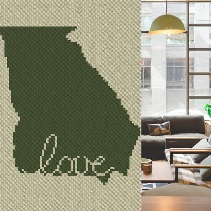 Georgia Love C2C Corner to Corner Crochet Pattern