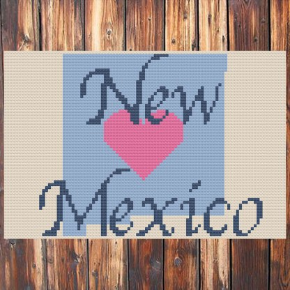 Heart New Mexico Cross Stitch Chart