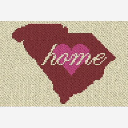 South Carolina Home C2C Corner to Corner Crochet Pattern