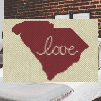 South Carolina Love C2C Crochet Pattern Corner to Corner