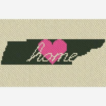 Tennessee Home C2C Corner to Corner Crochet Pattern