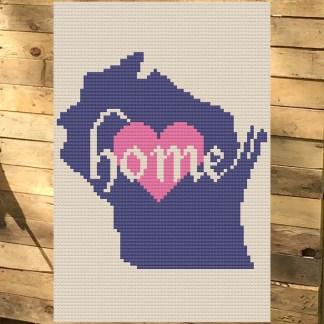 Wisconsin Home Cross Stitch Chart