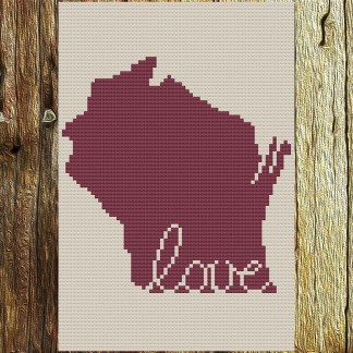 Wisconsin Love Cross Stitch Chart