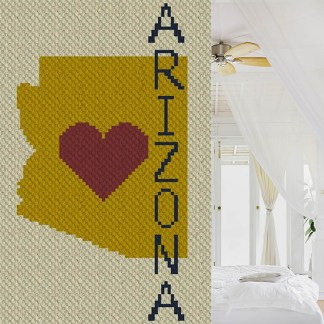 Heart Arizona C2C Corner to Corner Crochet Pattern