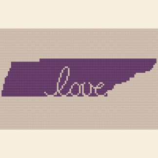Tennessee Love Cross Stitch Chart