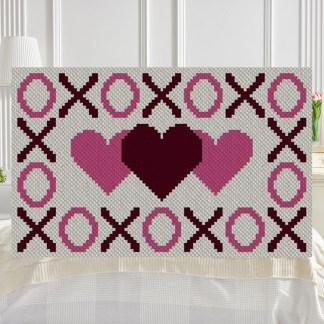 Hugs Kisses and Hearts C2C Afghan Crochet Pattern Graphghan Cross-stitch Blue Frog Creek
