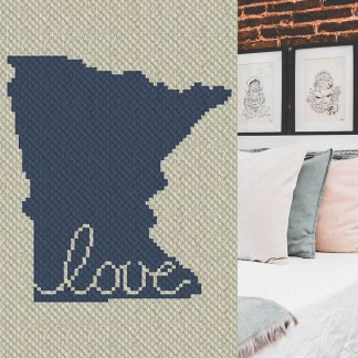 Minnesota Love C2C Corner to Corner Crochet Pattern