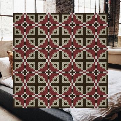 Dancing Blocks C2C Afghan Crochet Pattern