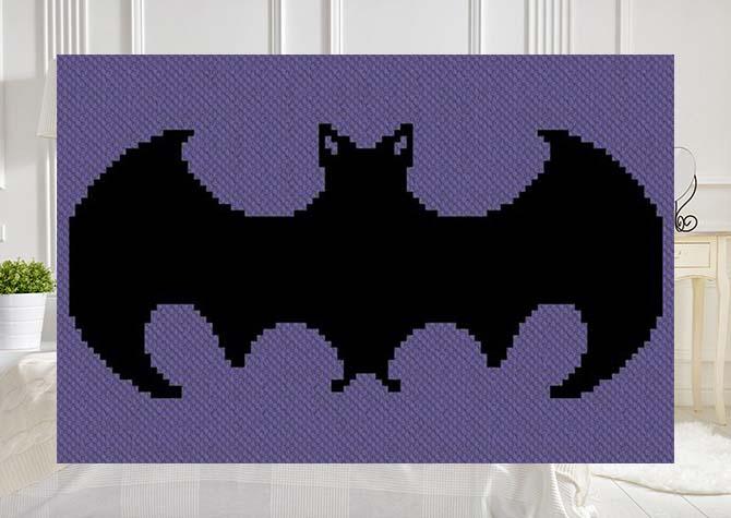 Just a Little Batty C2C Afghan Crochet Pattern