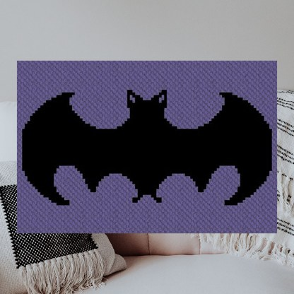 Just a Little Batty C2C Afghan Crochet Pattern for Corner to Corner Blankets Graphghans