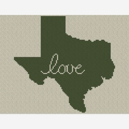 Texas Love C2C Afghan Crochet Pattern Corner to Corner Graphghan Cross Stitch Blue Frog Creek