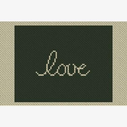 Wyoming Love C2C Afghan Crochet Pattern Corner To Corner Cross-Stitch Graphghan Blue Frog Creek