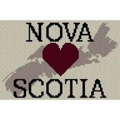Heart Nova Scotia C2C Afghan Crochet Pattern Corner to Corner Blanket Graphghan Cross Stitch Blue Frog Creek