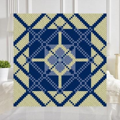 Light of My Life C2C Afghan Crochet Pattern Corner to Corner Graphghan Cross Stitch Blue Frog Creek