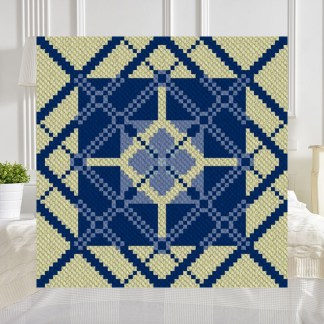 Light of My Life C2C Afghan Crochet Pattern Corner to Corner Graphghan Cross Stitch Blue Frog Creek