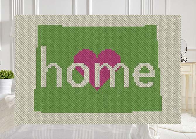 Colorado Home C2C Crochet Pattern