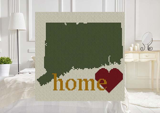 Connecticut Home C2C Crochet Pattern