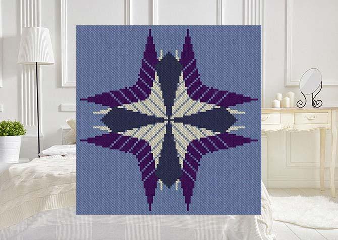 Flight of Fancy C2C Afghan Crochet Pattern
