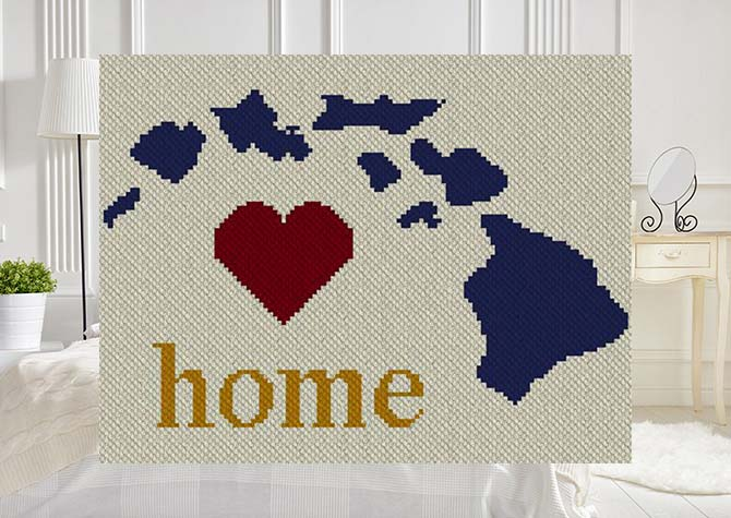 Hawaii Home C2C Afghan Crochet Pattern