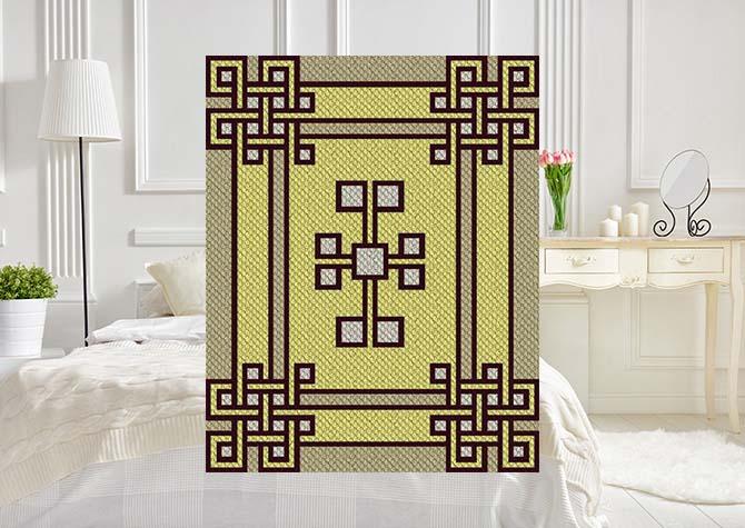 Knotty Boxes C2C Crochet Pattern