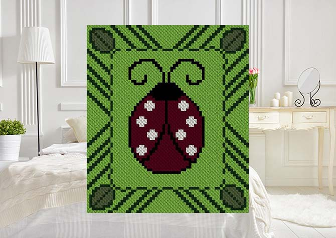 Lulu Ladybug C2C Crochet Pattern