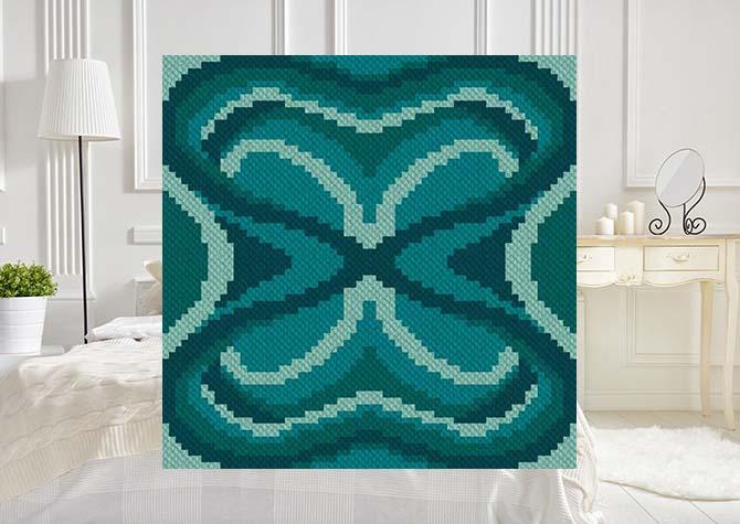Midnight Moth C2C Crochet Pattern