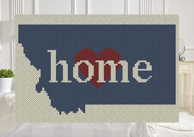 Montana Home C2C Afghan Crochet Pattern