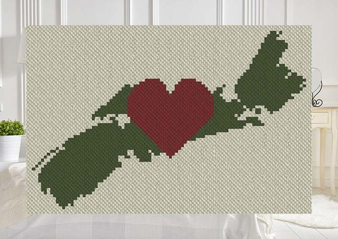 My Love Nova Scotia C2C Afghan Crochet Pattern