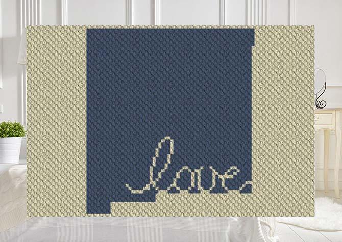 New Mexico Love C2C Crochet Pattern
