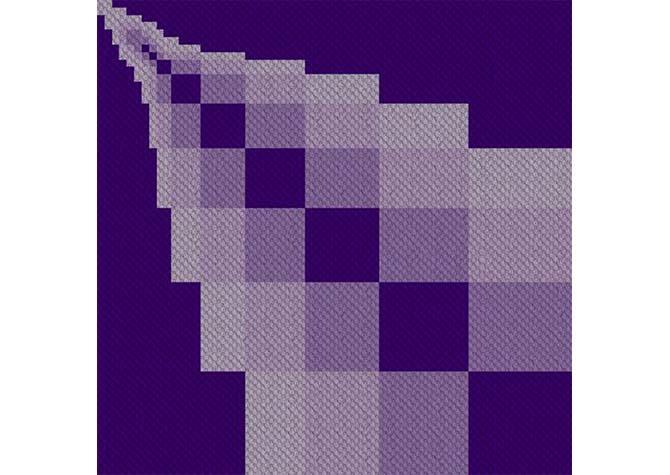 Disappearing Blocks C2C Crochet Pattern
