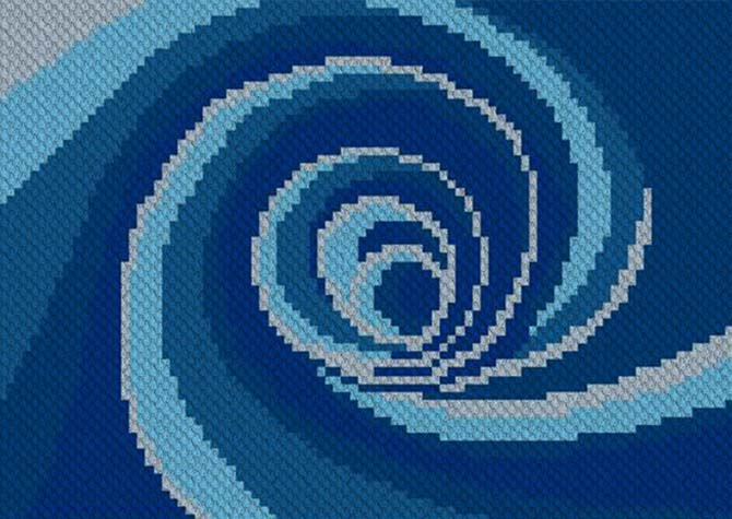 Down the Drain C2C Crochet Pattern