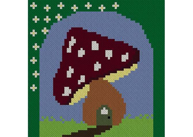 Fairies Forest C2C Crochet Pattern