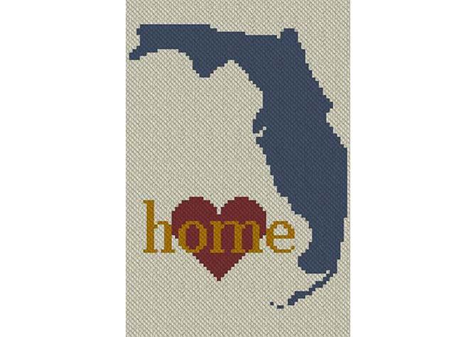 Florida Home C2C Crochet Pattern