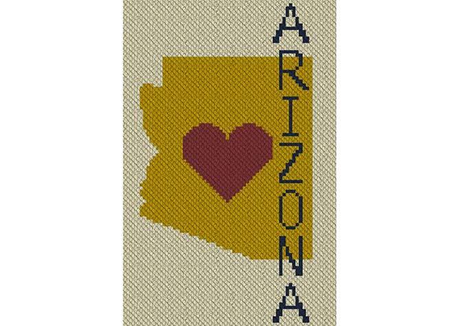 Heart Arizona C2C Crochet Pattern