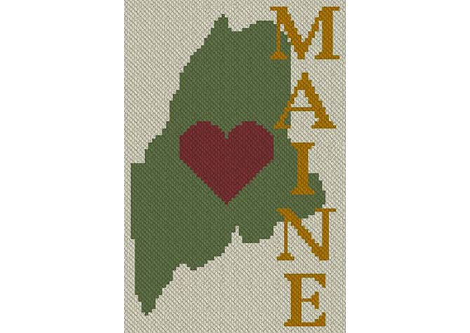 Heart Maine C2C Crochet Pattern